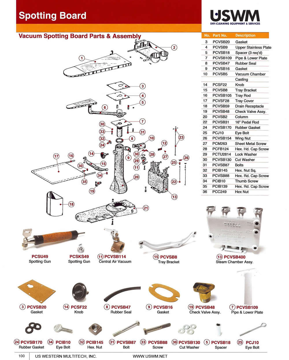 Cissell Uswm Dry Clean Laundry Machines Presses Parts And Wiring Diagrams Vacuum Spotting Board Assembly