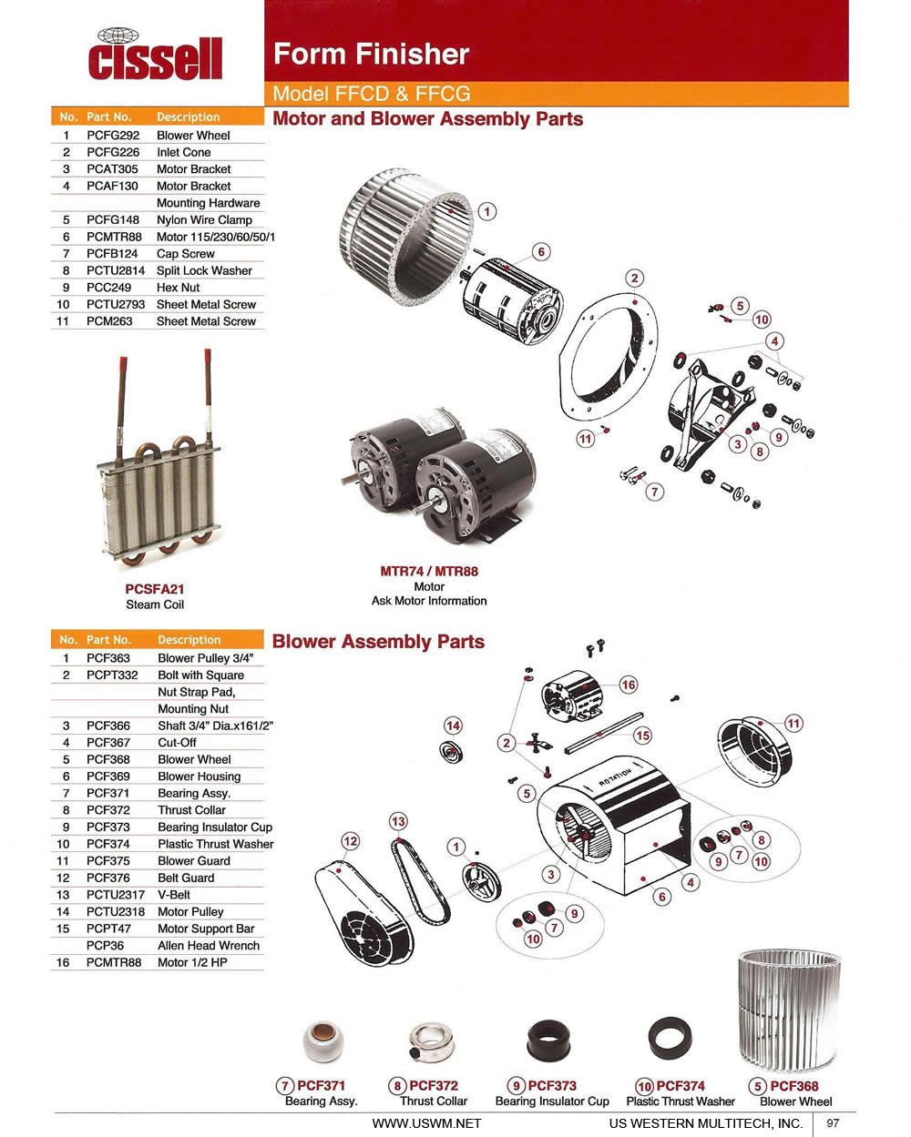 cissell uswm dry clean laundry machines presses parts and cissell form finisher model ffcd ffcg motor and blower assembly parts