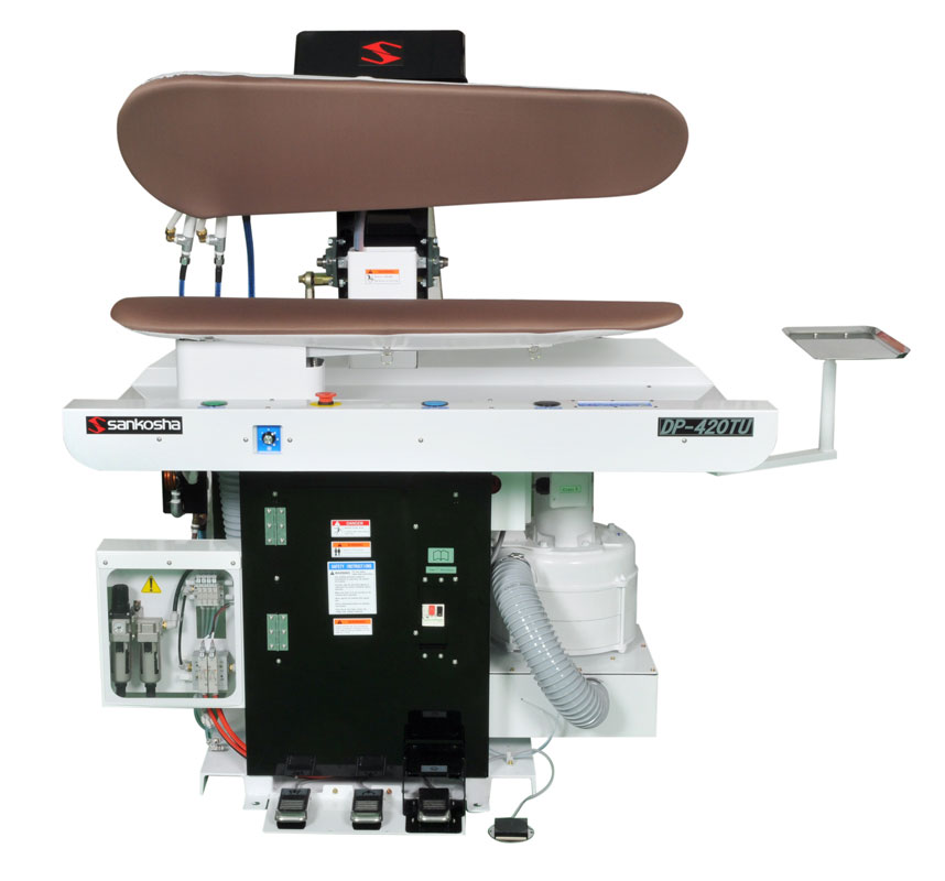 cleaning shirt press machine
